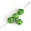 Fire polished 8mm Green Silk